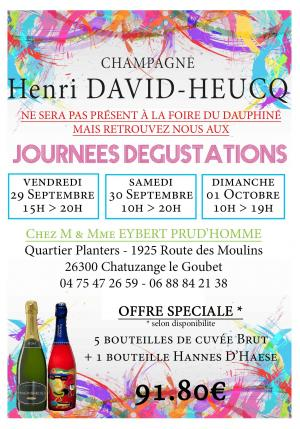 WEEK-END DEGUSTATION - Chatuzange le Goubet - 29, 30 & 01