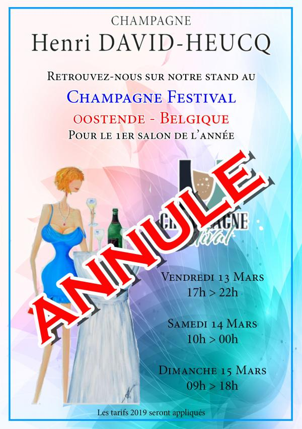 CHAMPAGNE FESTIVAL - OOSTENDE - ANNULE
