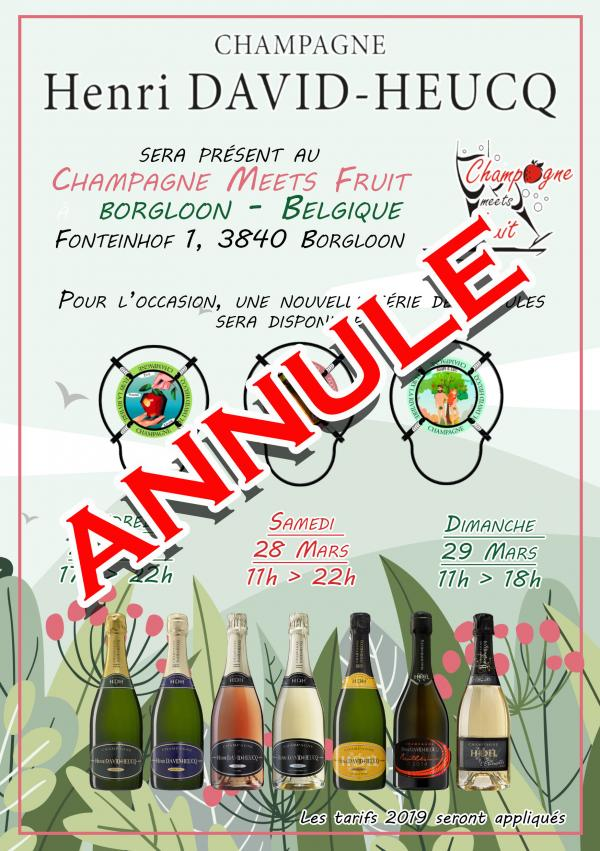 CHAMPAGNE MEETS FRUIT - ANNULE